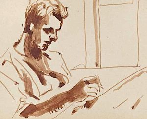 Soldier Writing Home, 1941